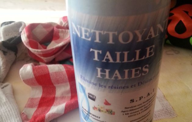 nettoyant taille haies