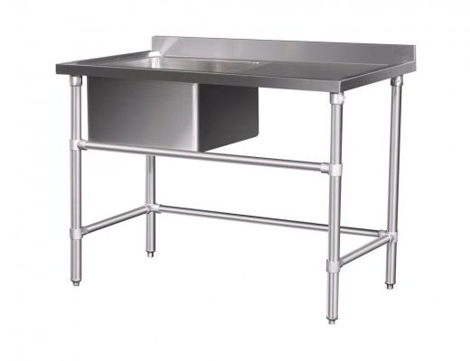 Table inox spai for Table inox avec evier