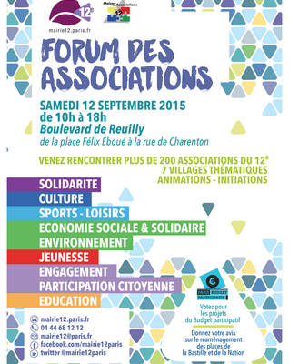 Le forum des Associations du 12e - 12 Septembre 2015