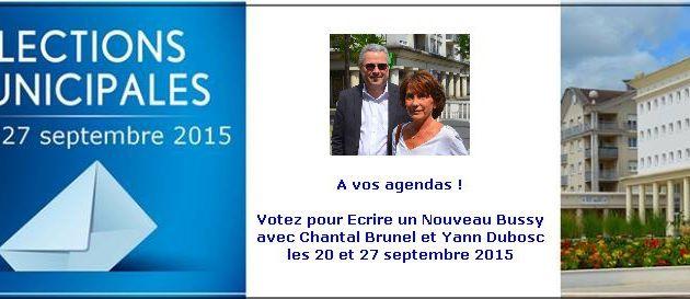 Elections municipales à Bussy : retenez vos 20 et 27 septembre