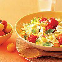 Corn d'été et Pâtes aux tomates