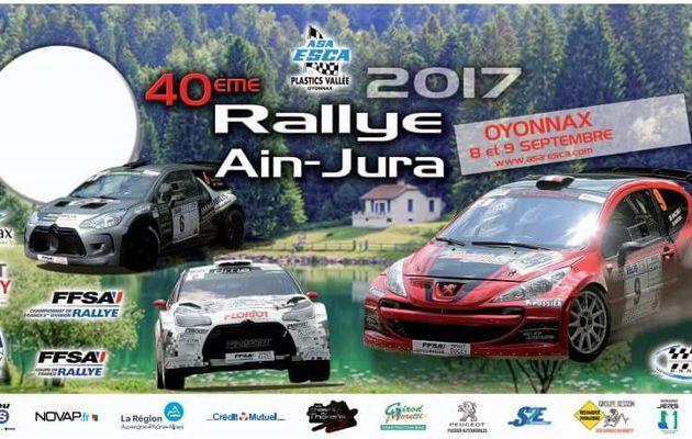 40ème rallye AIN-JURA 8 et 9 septembre
