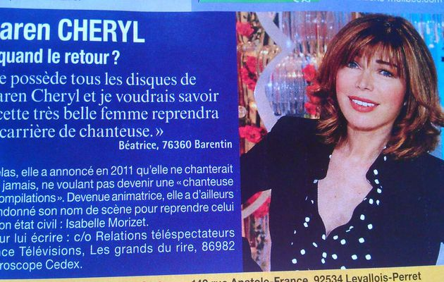 NE NOUS EMMERDEZ PLUS : KAREN CHERYL IS DEAD