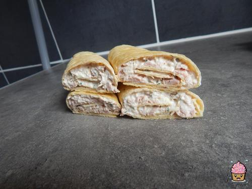 Wraps au thon ricotta.