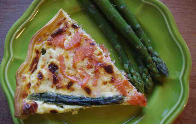 Tarte au saumon et aux asperges