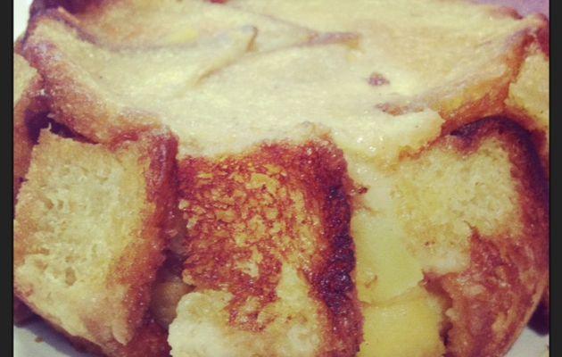 Charlotte aux pommes au beurre salé
