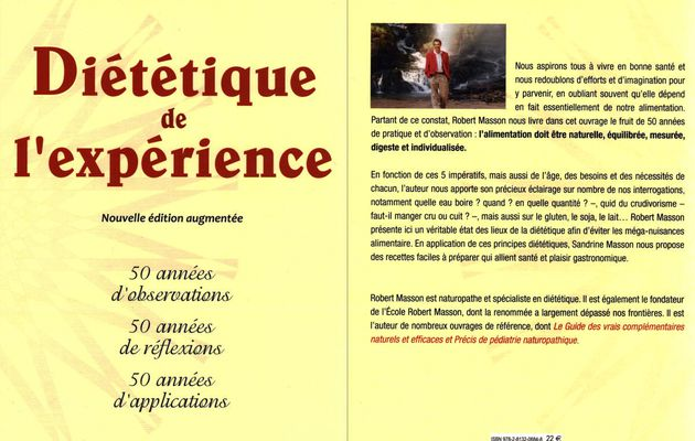 Le TOP de la NUTRITION: Diététique de l'experience de ROBERT MASSON