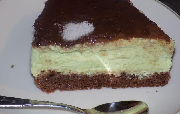 Bavarois menthe-chocolat dukan