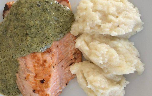 Filet de saumon et mousseline d'oseille dukan