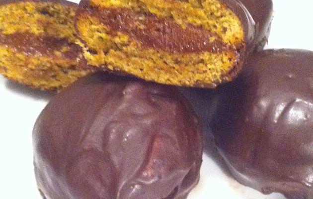 """""""Pistachines"""" moelleux pistache et chocolat sans farine"""
