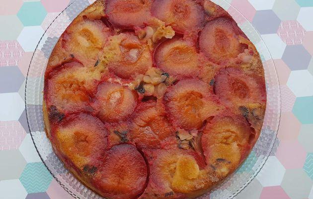 moelleux aux prunes rouges et amandes