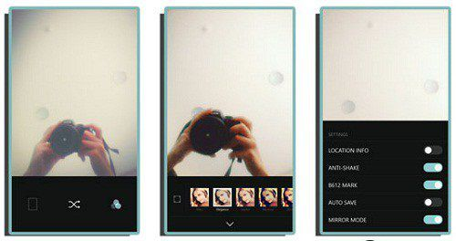 B612 – A Selfie App that Only Uses the Front Camera