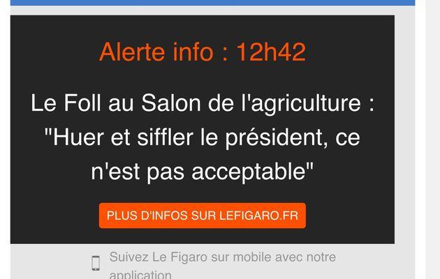 Hue   ho....Hollande Ohé....   Hué au salon de l' agriculture