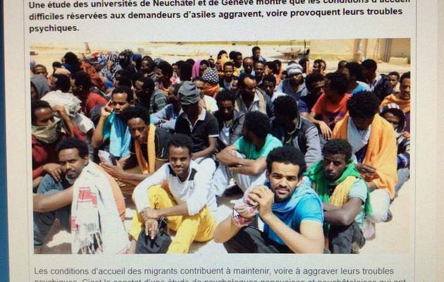 Selon une étude suisse, les conditions d'accueil des migrants aggraveraient leurs troubles mentaux