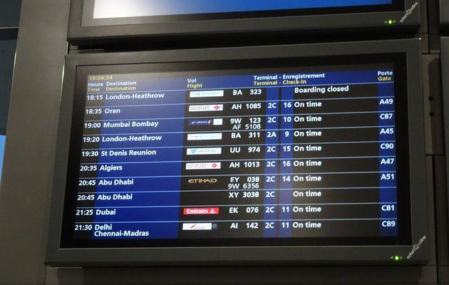 Le vol Paris-Dubaï