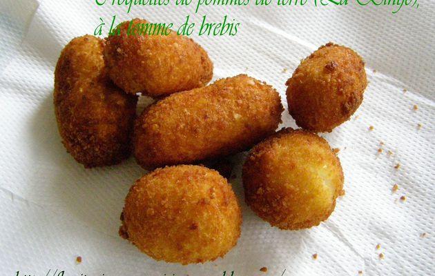 Croquettes de pommes de terre (La Bintje), à la tomme de brebis