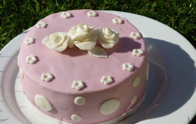 Cake Design ( essai pâte à sucre)