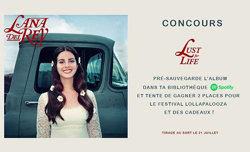 Semaine 3 - Concours: gagnez des cadeaux avec Lana Del Rey France et Polydor