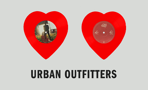 Le vinyle exclusif Urban Outfitters de Love et Lust For Life