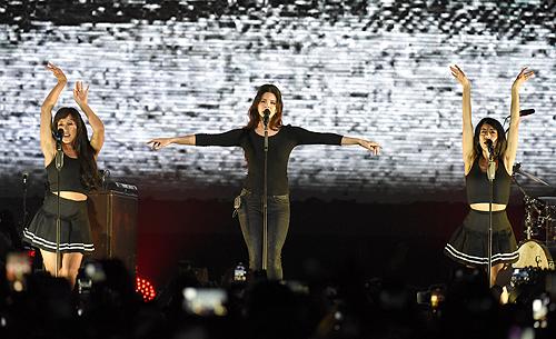 Lana Del Rey sur la scène du Bill Graham Civic Auditorium à San Francisco, Etats-Unis. (05.09.2017)