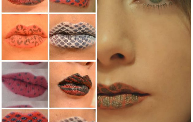----------- Lip art Facile avec le pochoir Lips Art ----------- Easy Lip art with Lips art stencil