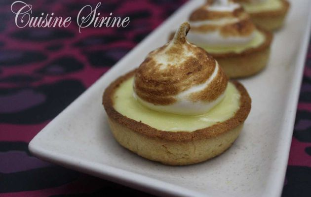 mini tarte au citron :