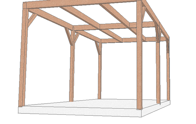 construction de carport pergolas auvent et appenti en douglas dans ce blog je pr sente la. Black Bedroom Furniture Sets. Home Design Ideas