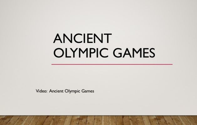AH2 Ancient Olympic Games in ancient Greece