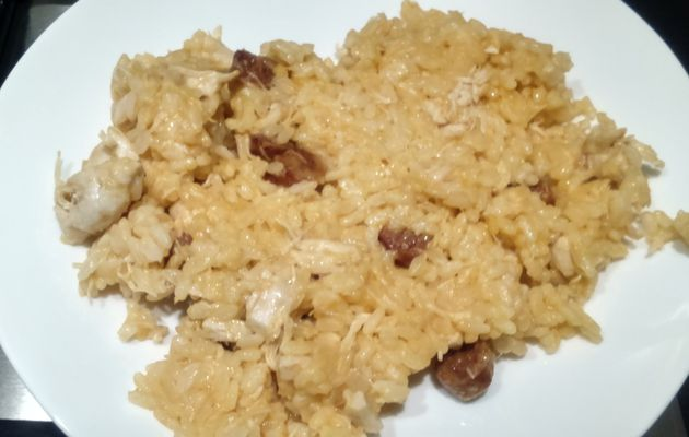Risotto poulet chorizo Cook'in