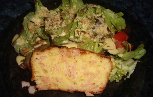 Cake jambon végétal et comté