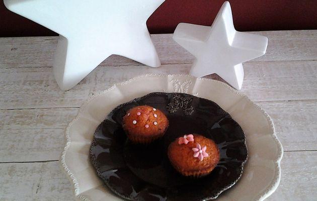 Muffins marbrés cerise/griotte, chocolat