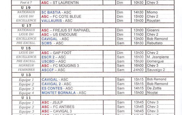 Le programme des matchs du 16 et 17 janvier 2016.
