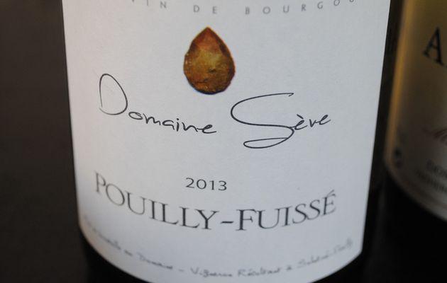 Dégustation du jour : Pouilly-Fuissé Domaine Sève 2013