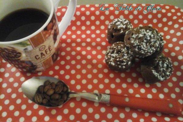 Petites bouchées chocolatées saveur café