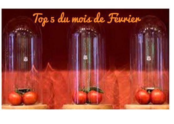 TOP 5 DU MOIS DE FEVRIER