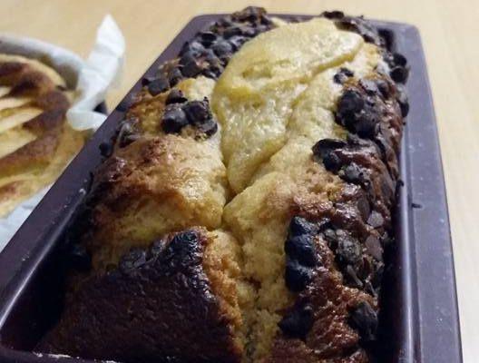 Cake au Miel et pépites de chocolat