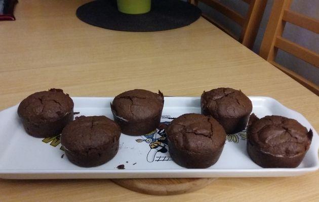 Muffins à la crème de marrons, chocolat & citron