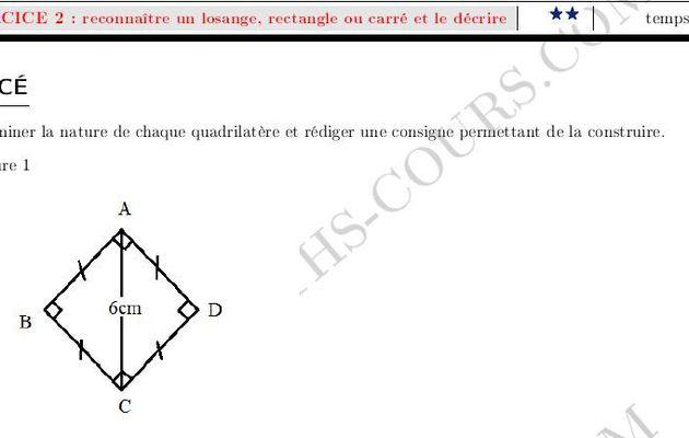 Construction d'un rectangle