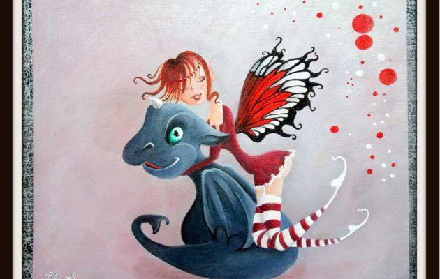 La fée Cilette et son dragon Mignon