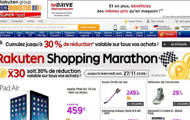 Avoir des coupons priceminister