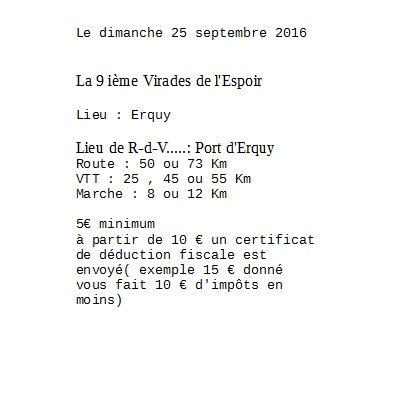 Rando cyclo a Erquy le 25 septembre 2016