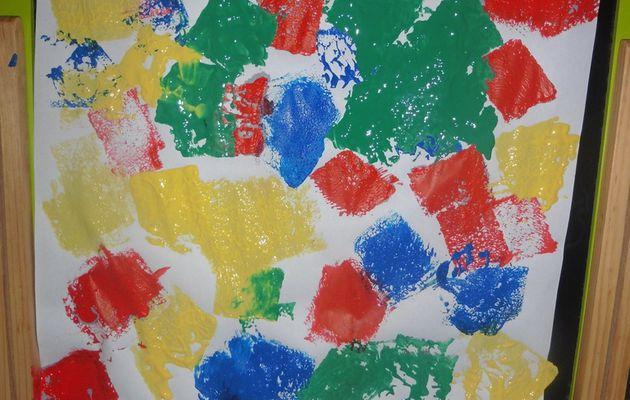 Peinture avec éponge
