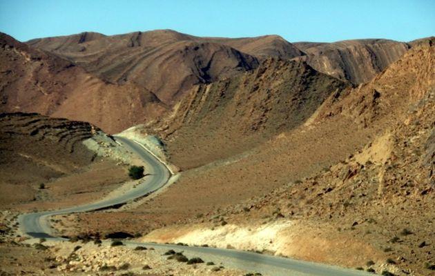 sur la route vers TAFRAOUTE