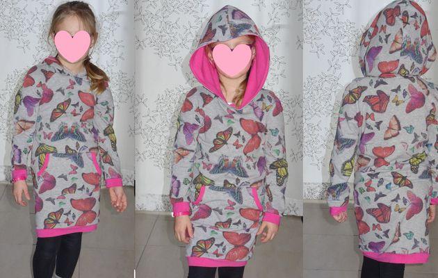 La robe sweat JESSE de B-Trendy, des papillons par milliers ...