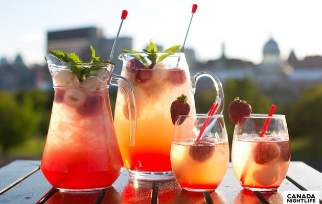 Le strawberry lychee sangria