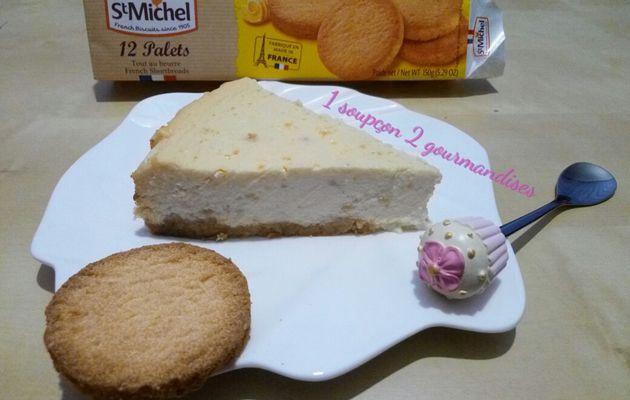 Cheesecake aux Poires et Palets Saint-Michel