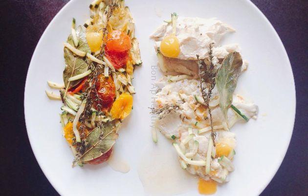 • Papillote de poisson et légumes du soleil •