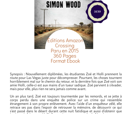 L'évadée, de Simon Wood