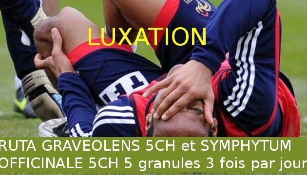 luxation et subluxation