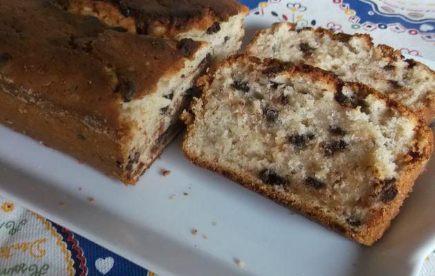 cake moelleux à la banane et aux pépites